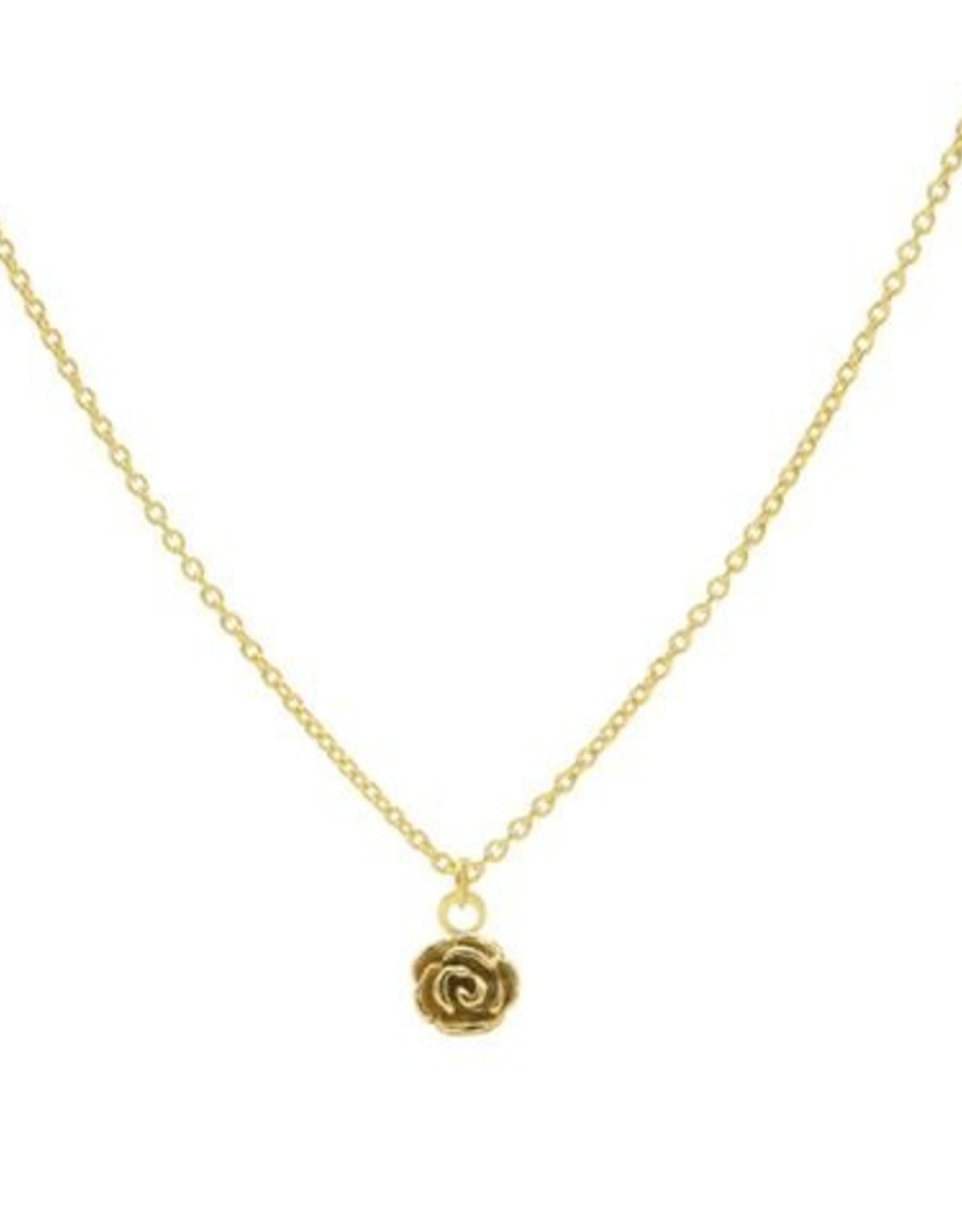 Karma Necklace Flower Rose Goldplated
