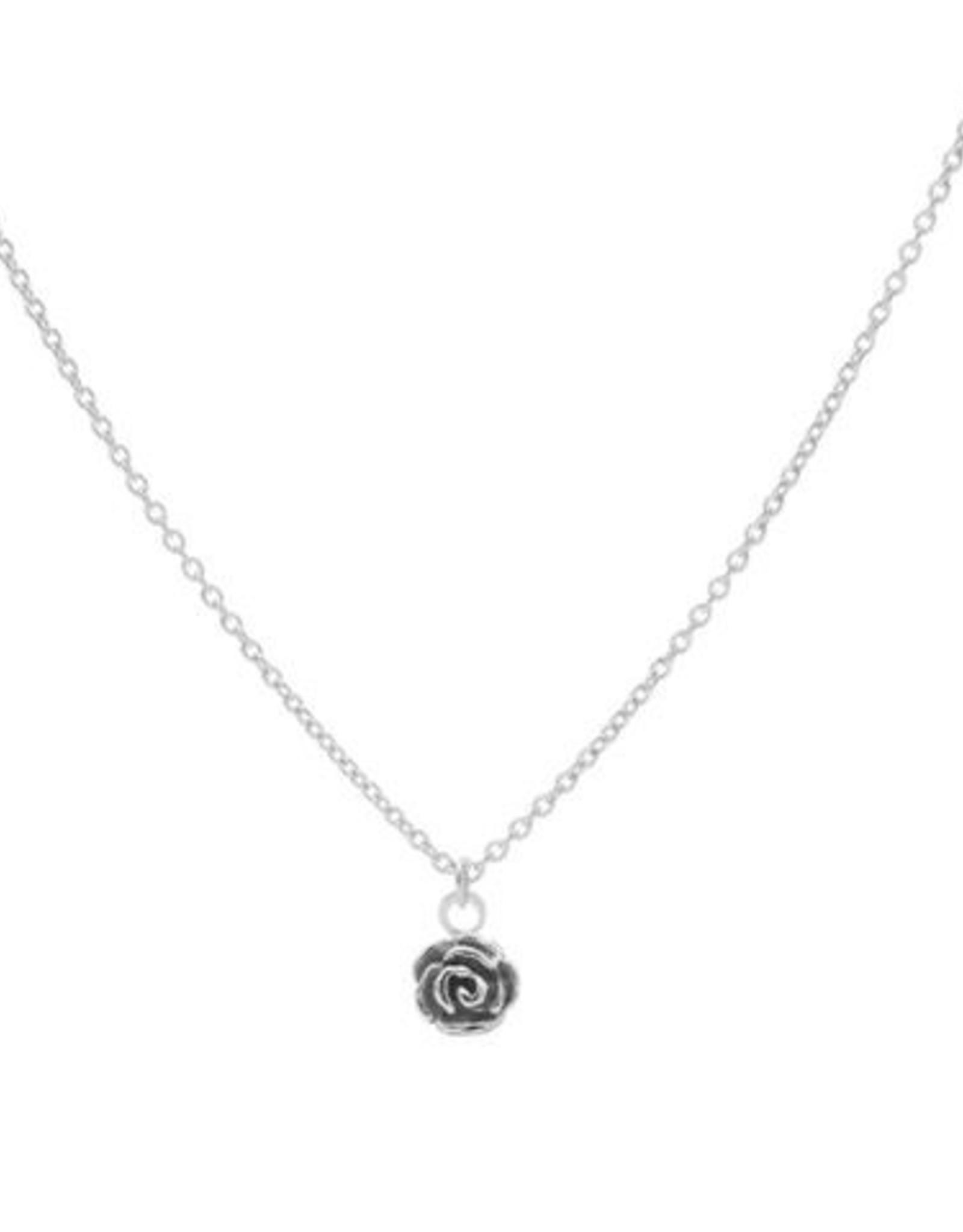 Karma Necklace Flower Rose Silver