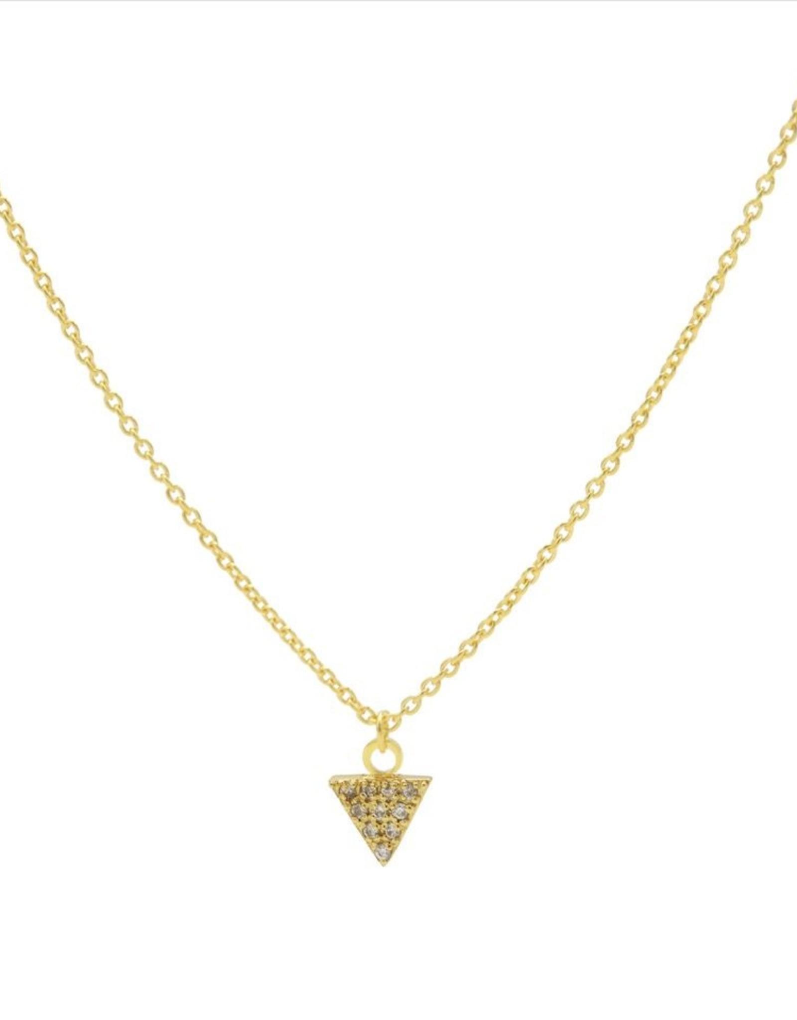Karma Necklace Zirconia Triangle Goldplated