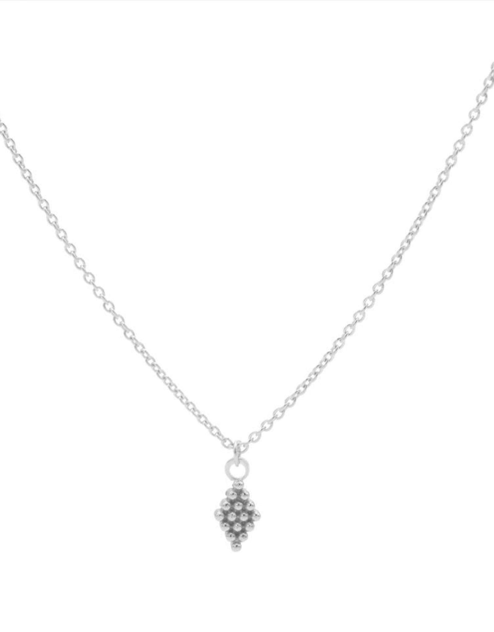 Karma Necklace Dots Diamond Silver