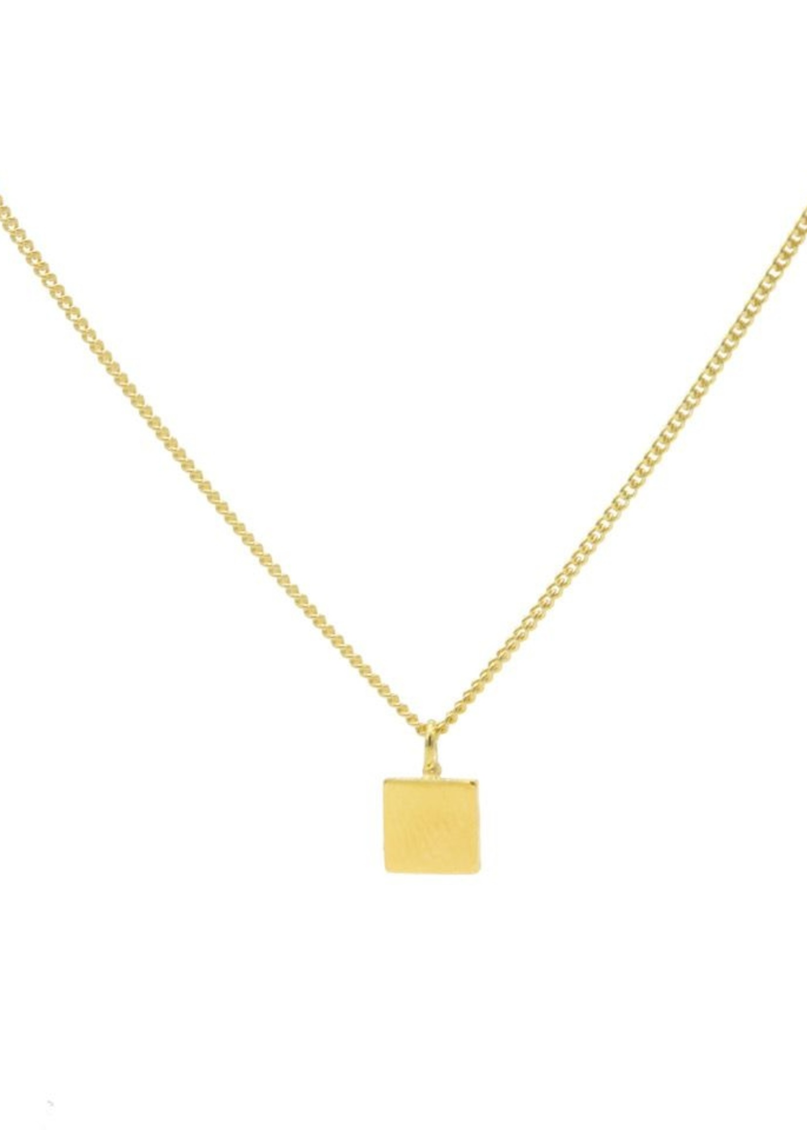 Karma Necklace Square Goldplated