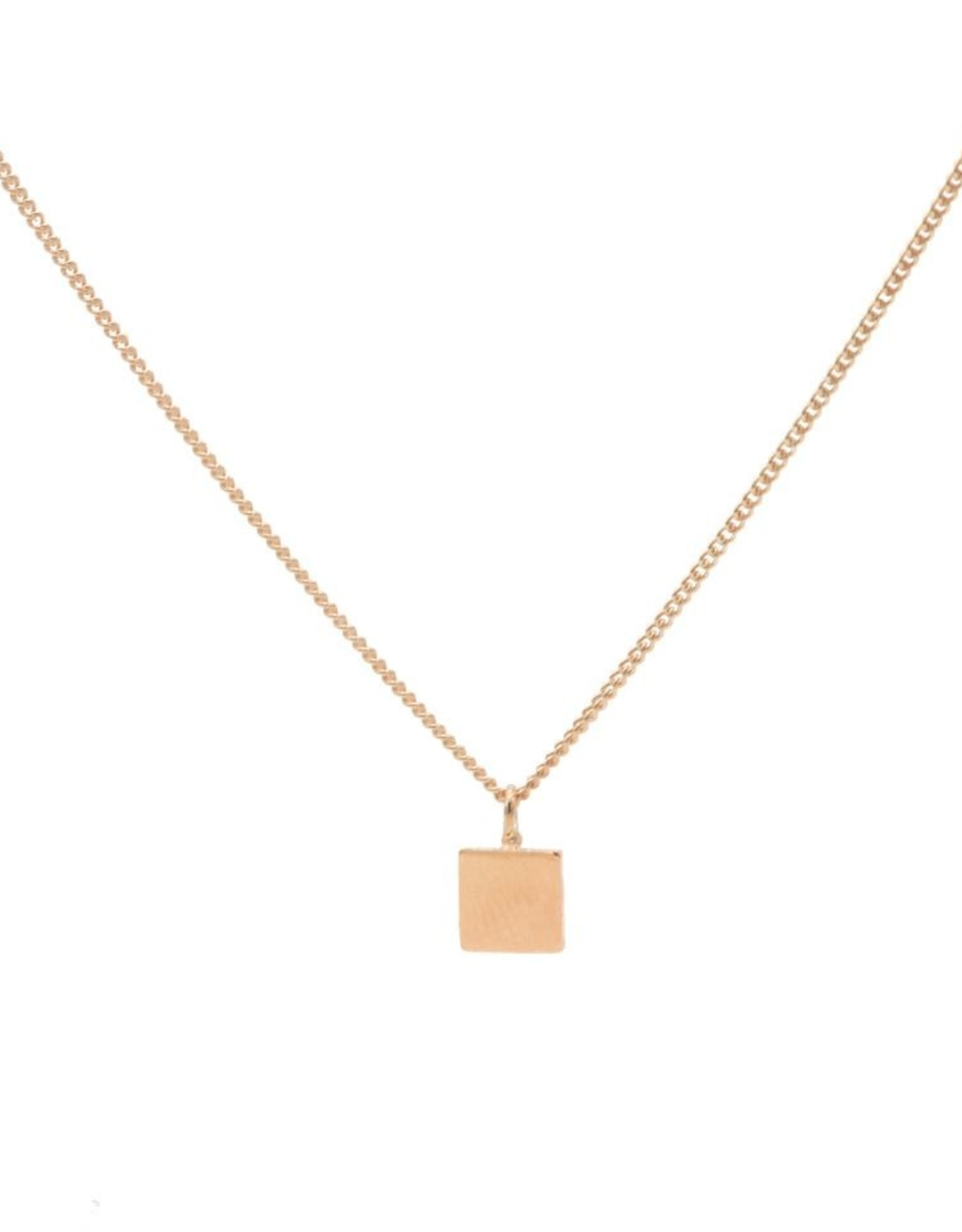 Karma Necklace Square Roseplated