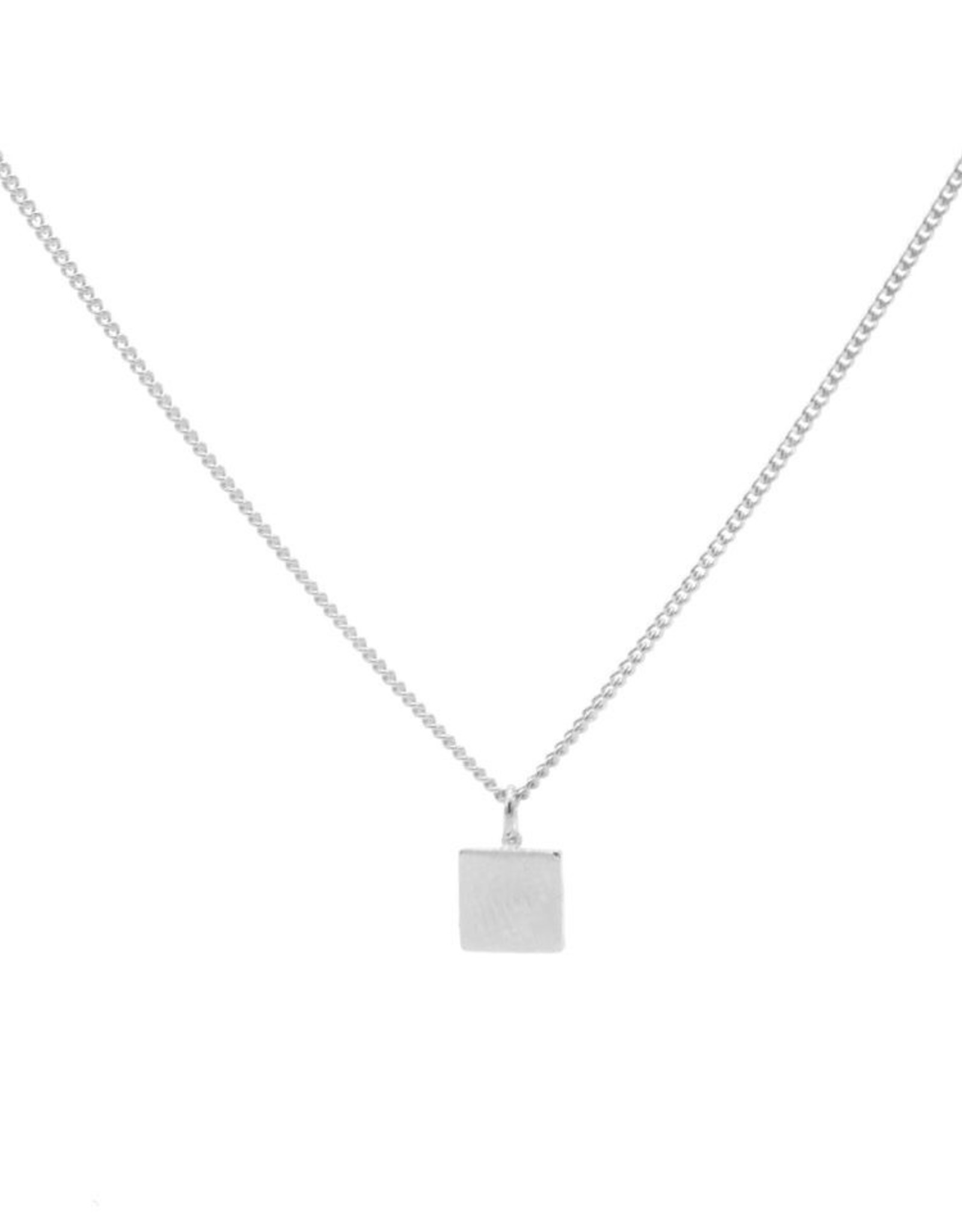 Karma Necklace Square Silver