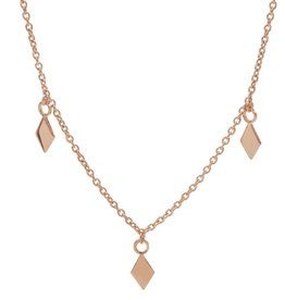 Karma Necklace 3 Diamonds Roseplated