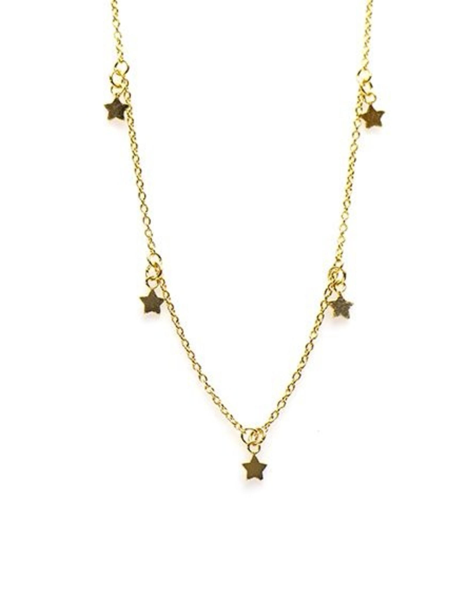 Karma Necklace 5 Stars Goldplated