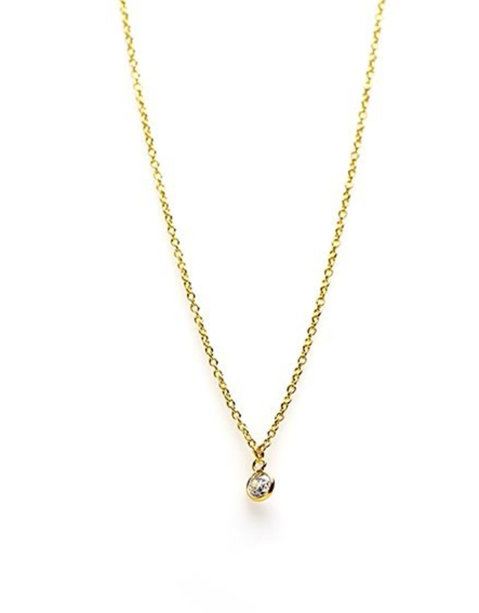 Karma Necklace Zirconia Dot Goldplated