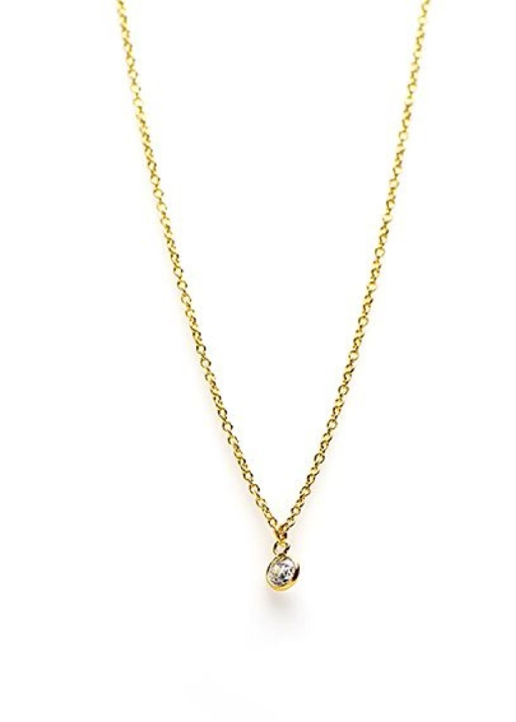 Karma Necklace Zirconia Dot Goldplated