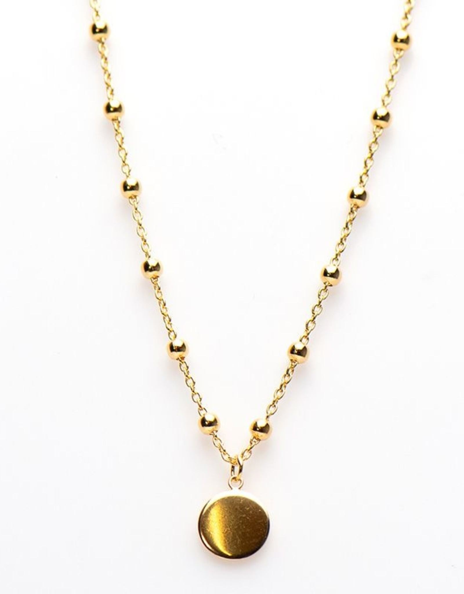 Karma Necklace Dots Disc Goldplated