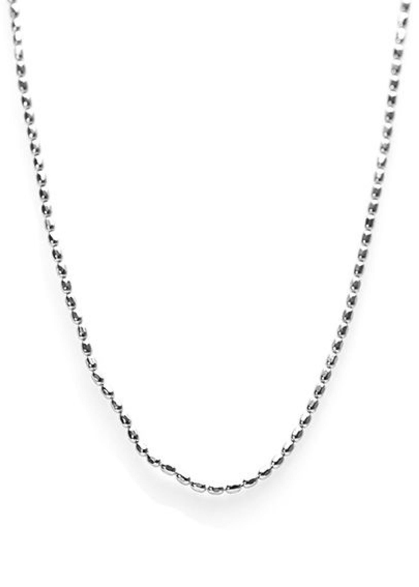 Karma Necklace Tiny Dots Chain Silver
