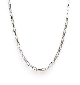 Karma Necklace Square Chain Silver