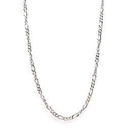 Karma Necklace Figaro Silver