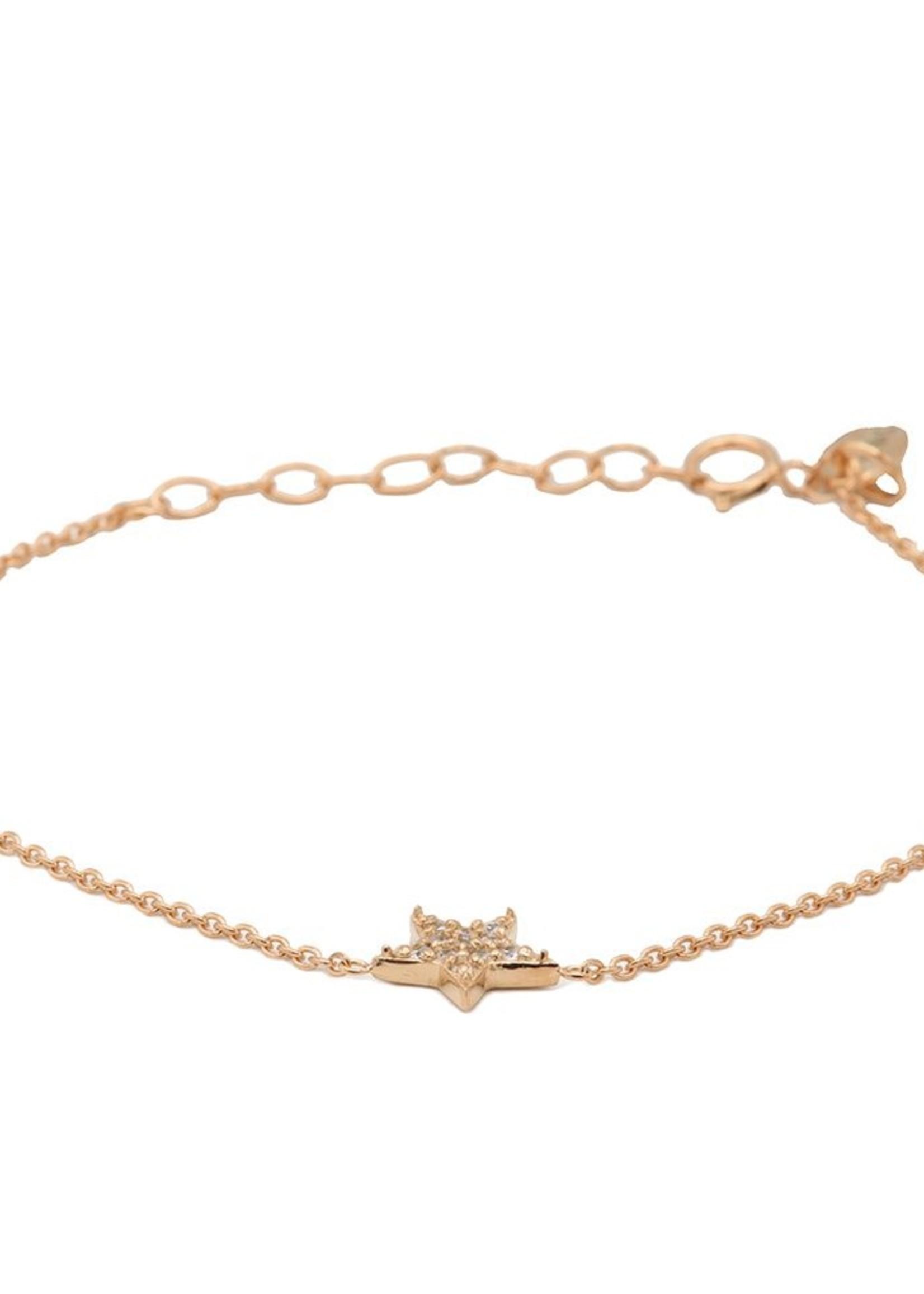 Karma Bracelet Zirconia Star Roseplated
