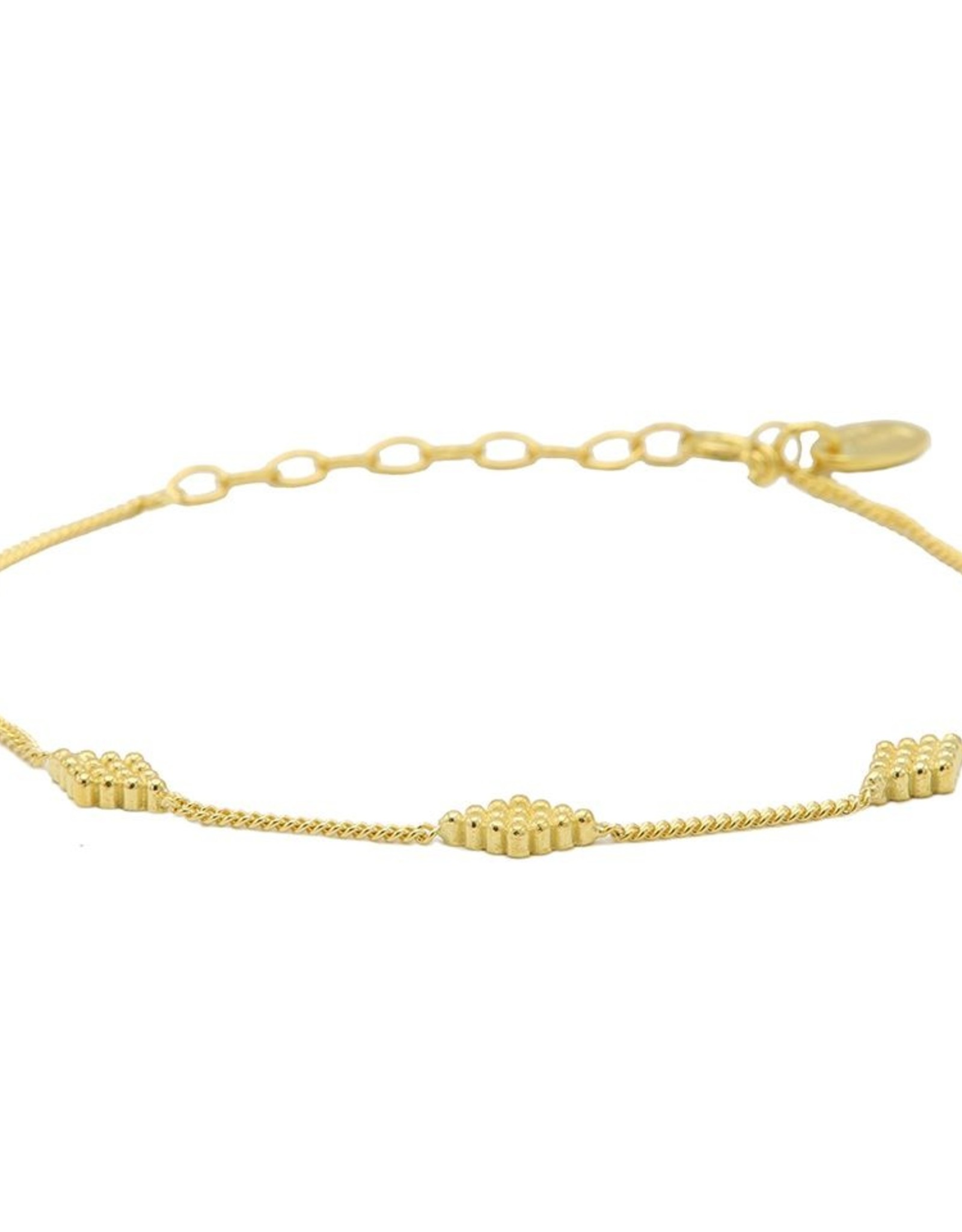 Karma Bracelet Diamond Shape Dots Goldplated