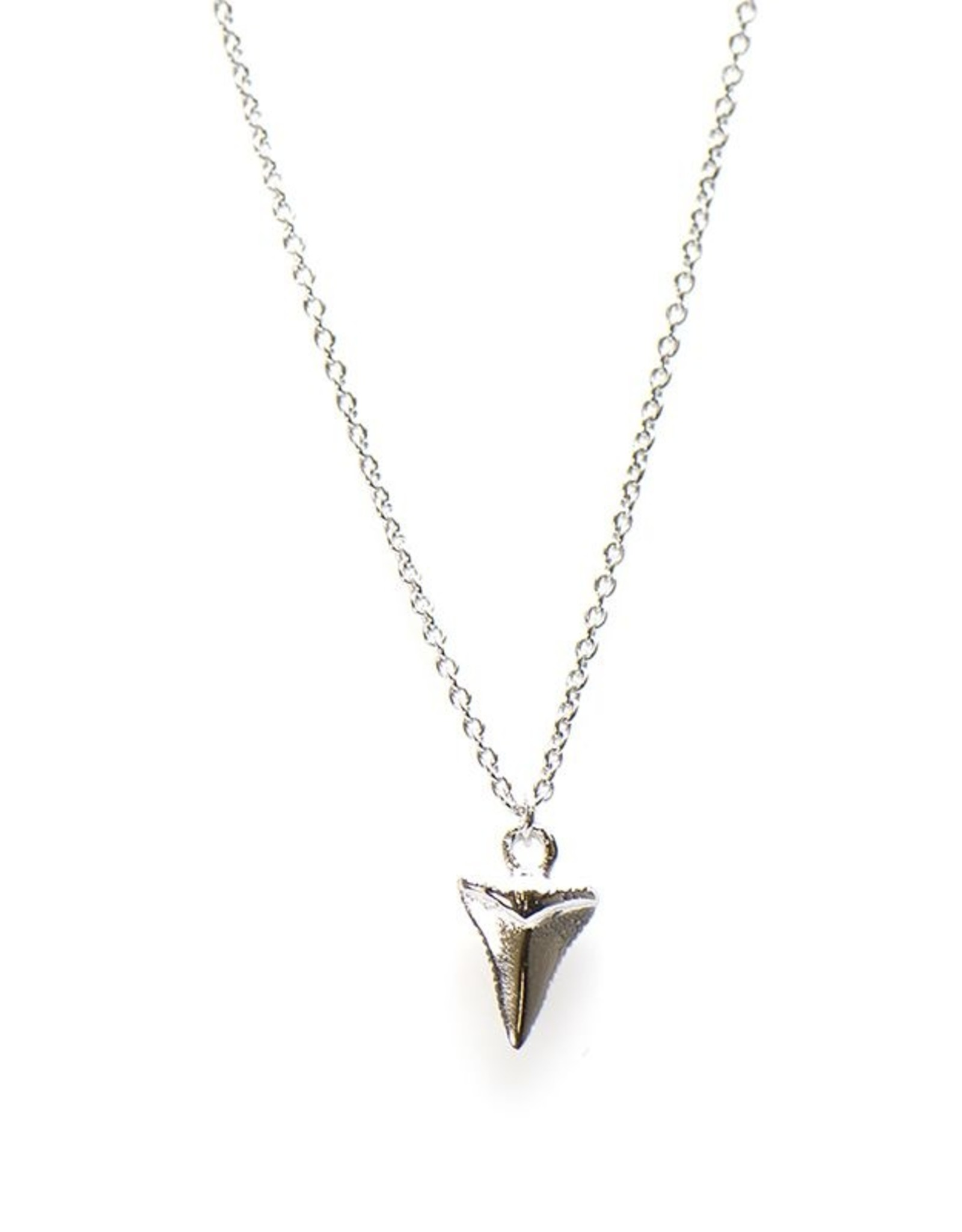 Karma Necklace Shark Tooth Silver 50-57CM