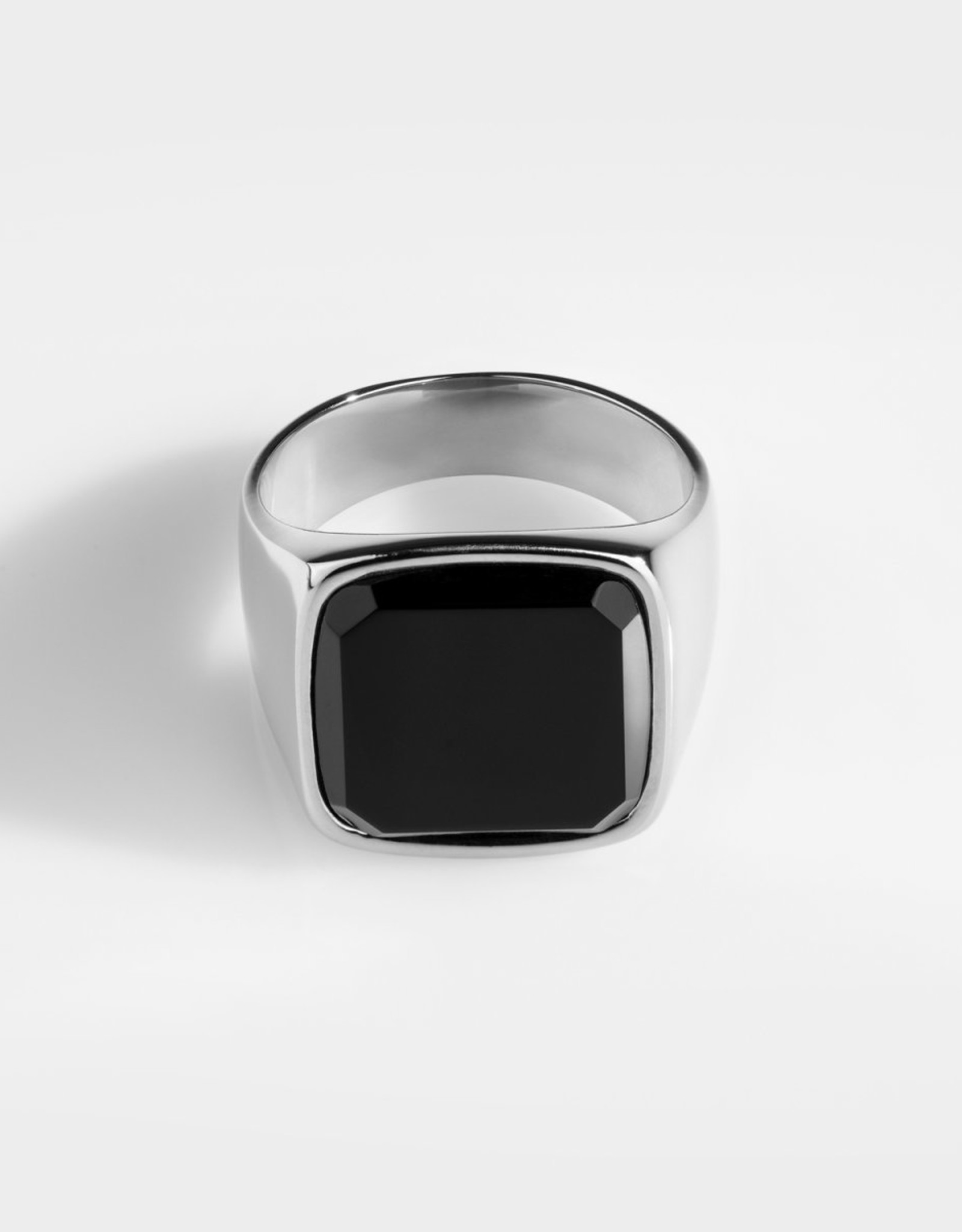 Northern Legacy Black Onyx Oversize Signature - Silver Tone Ring 20