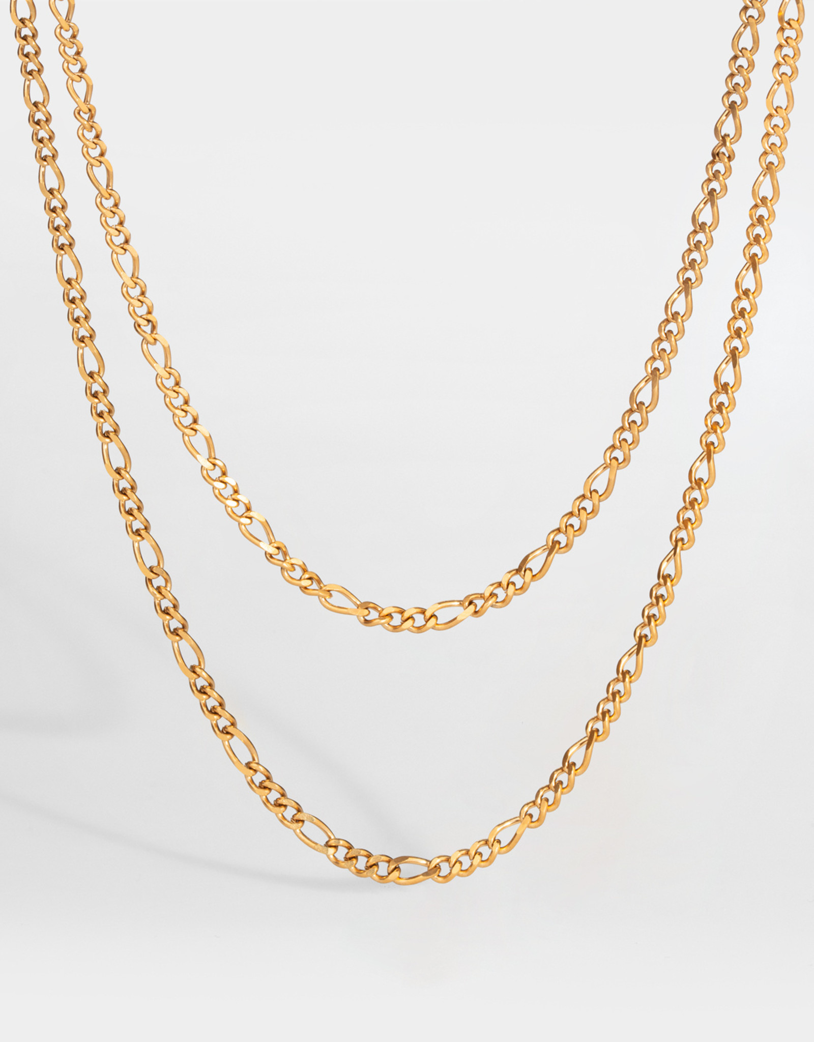 Northern Legacy NL Double Antique Chain- Gold Tone