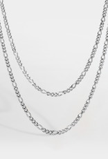 Northern Legacy NL Double Antique Chain-Silver Tone