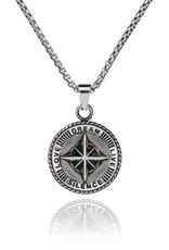 Croyez Compass w/ round boxchain Sterling silver 65cm