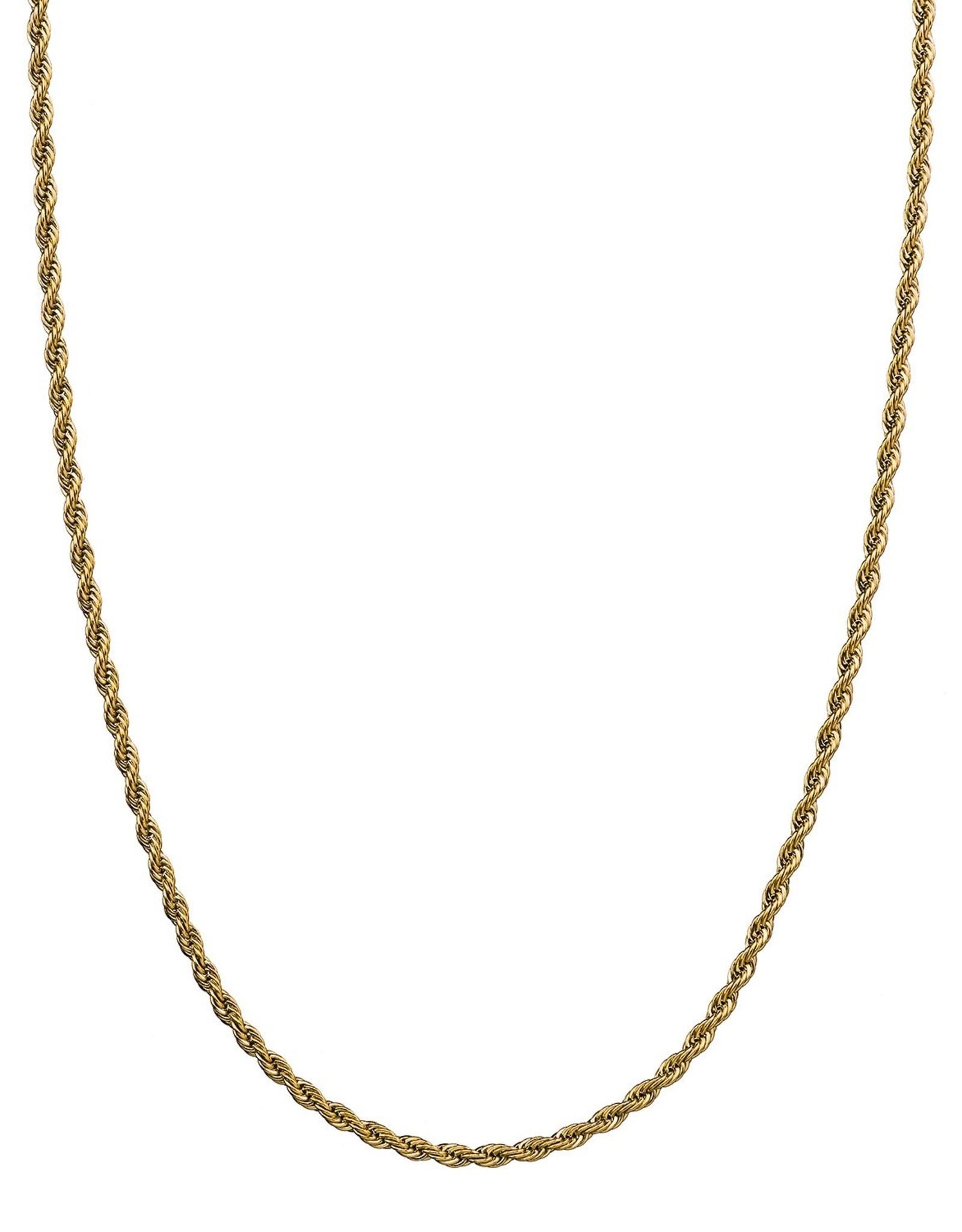 Croyez Chain rope 3mm 14k gold 55cm