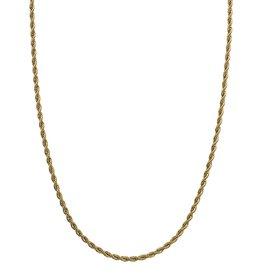 Croyez Chain rope 3mm 14k gold 52cm