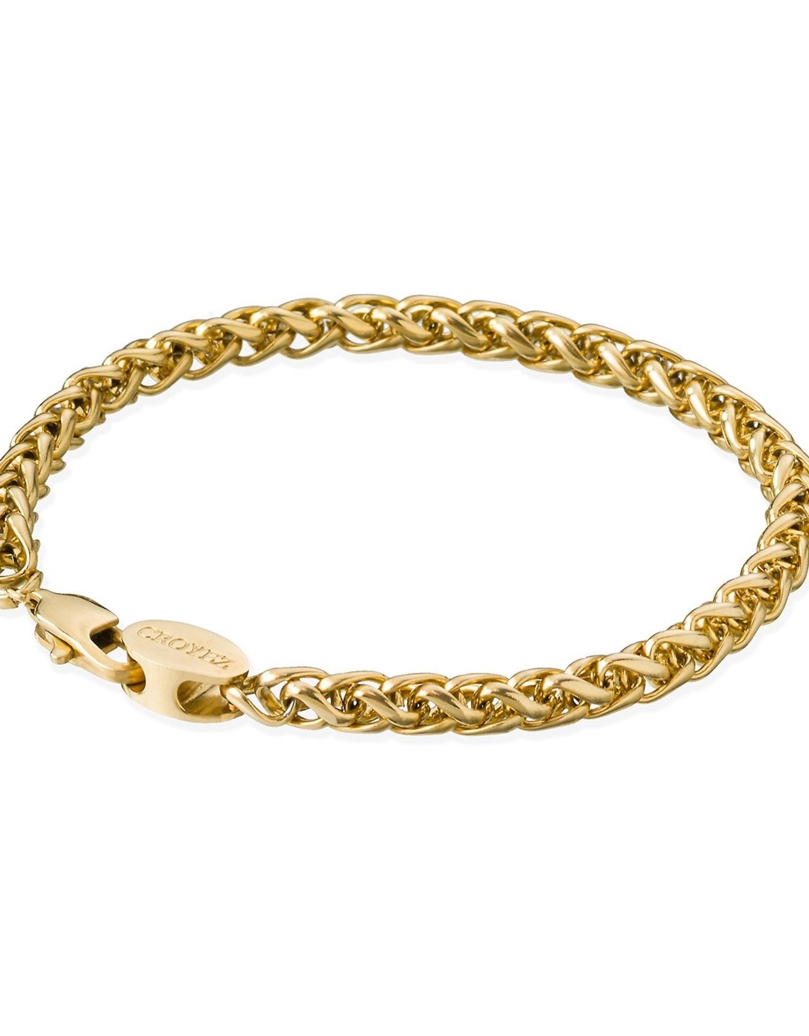 Croyez Bracelet wheat 5mm 14k gold 21cm