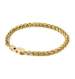 Croyez Bracelet wheat 5mm 14k gold 19cm