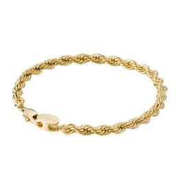 Croyez Bracelet rope 5mm 14k gold 19cm