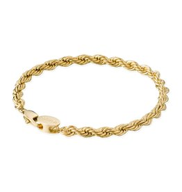Croyez Bracelet rope 5mm 14k gold 21cm