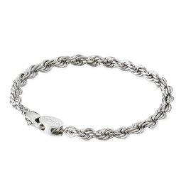 Croyez Bracelet rope 5mm silver 19cm