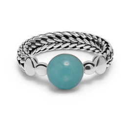Buddha to Buddha 925 Sterling Zilveren 004GR Refined Batas Sphere Ring