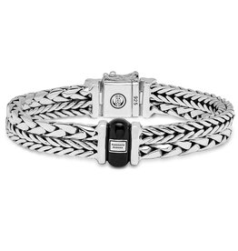 Buddha to Buddha 925 Sterling Zilveren 105 Barbara George onyx Bracelet Silver