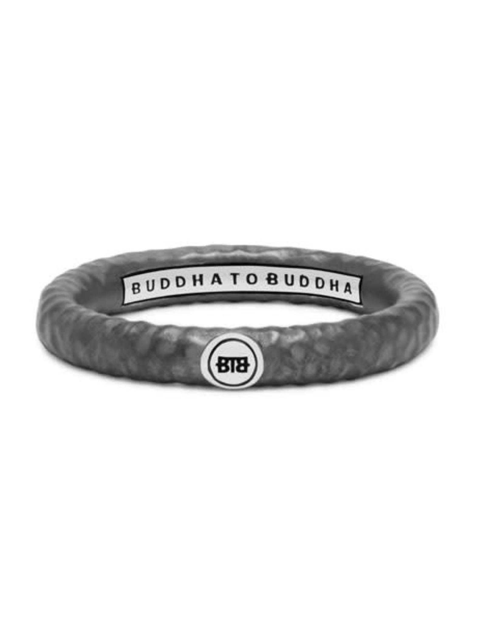 Buddha to Buddha 925 Sterling Zilveren 321 Dunia Hammered Black Ring