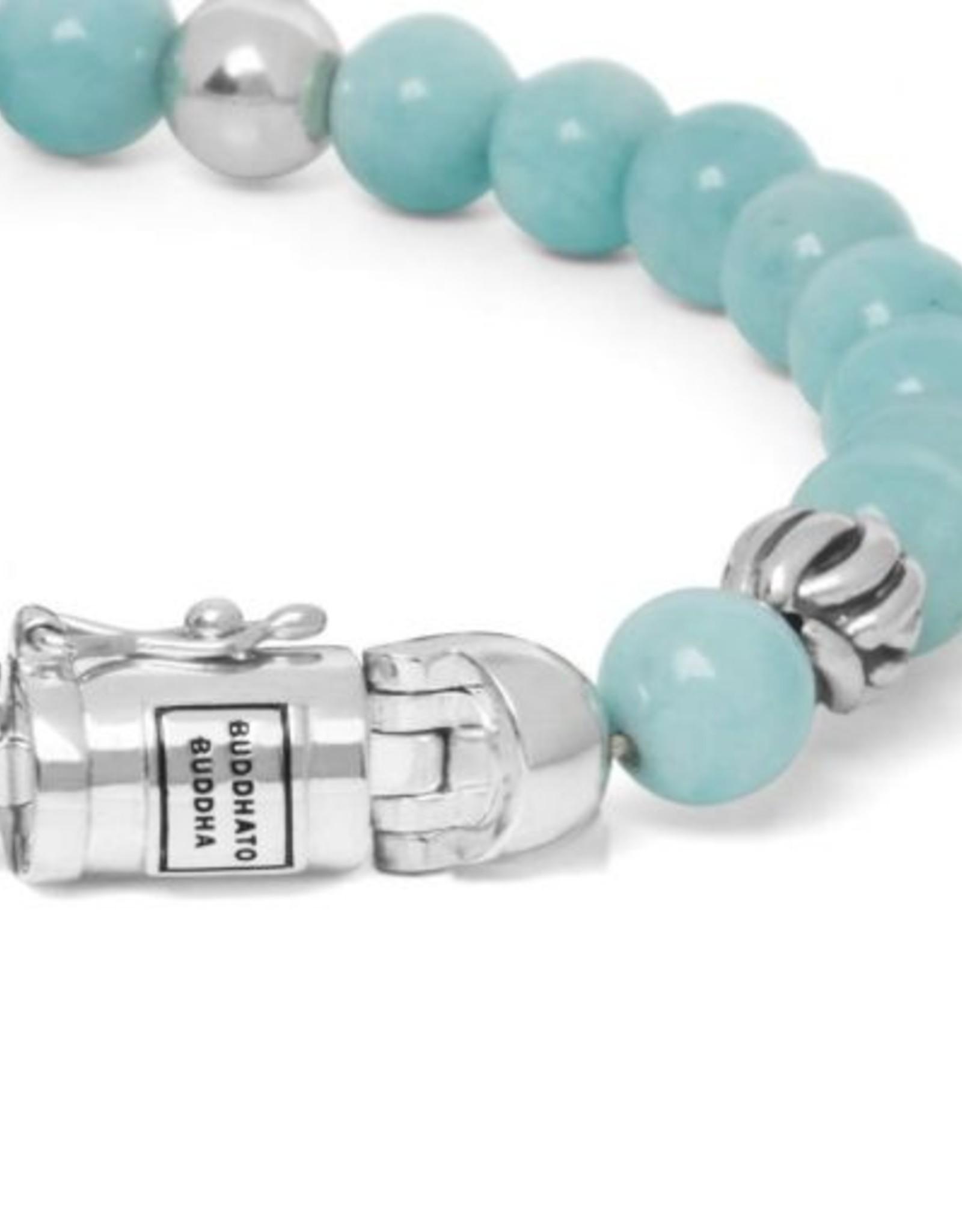 Buddha to Buddha 925 Sterling Zilveren 189AM Spirit Bead Mini Amazonite Armband
