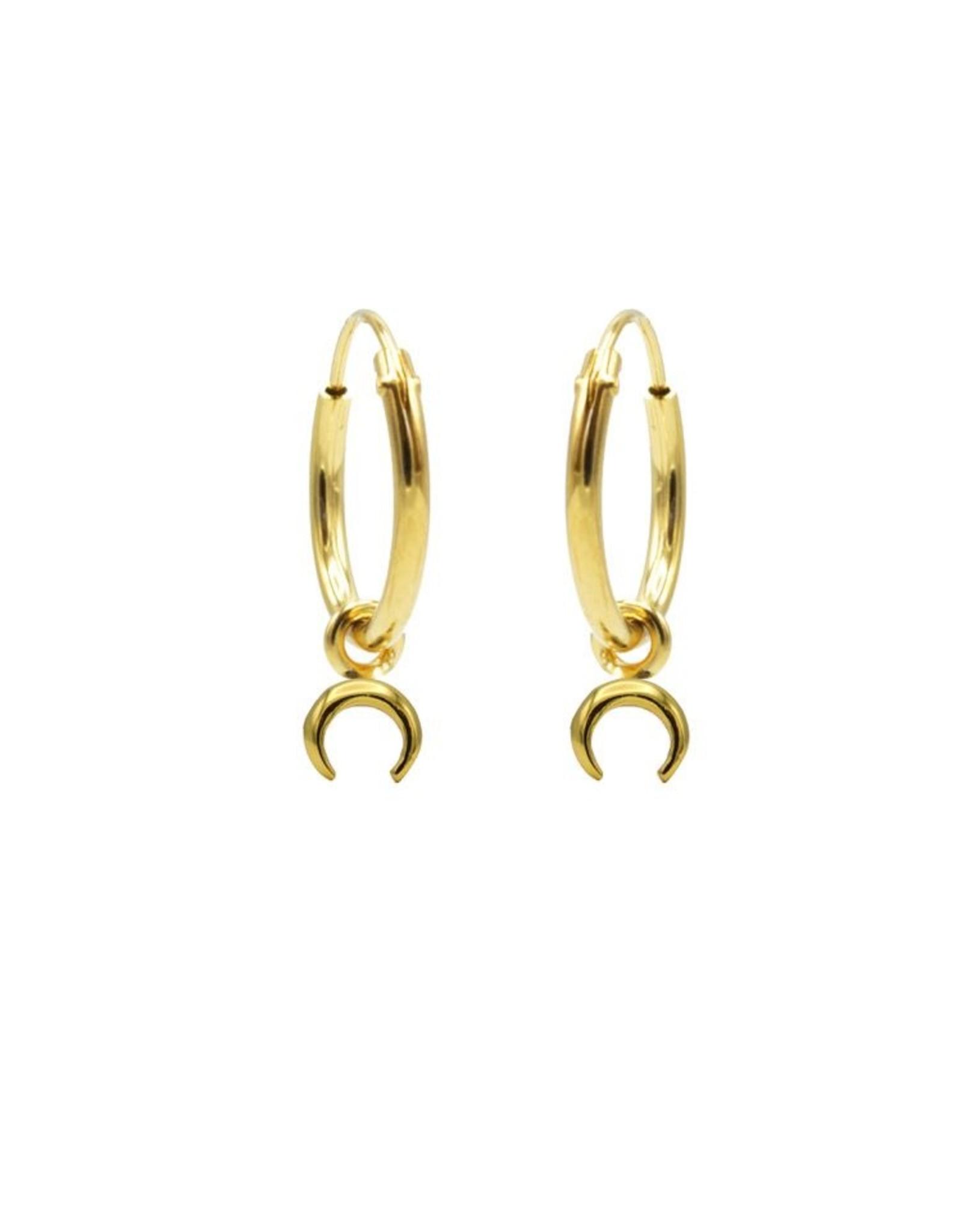 Karma Hoops Symbols Tigertooth Goldplated Set