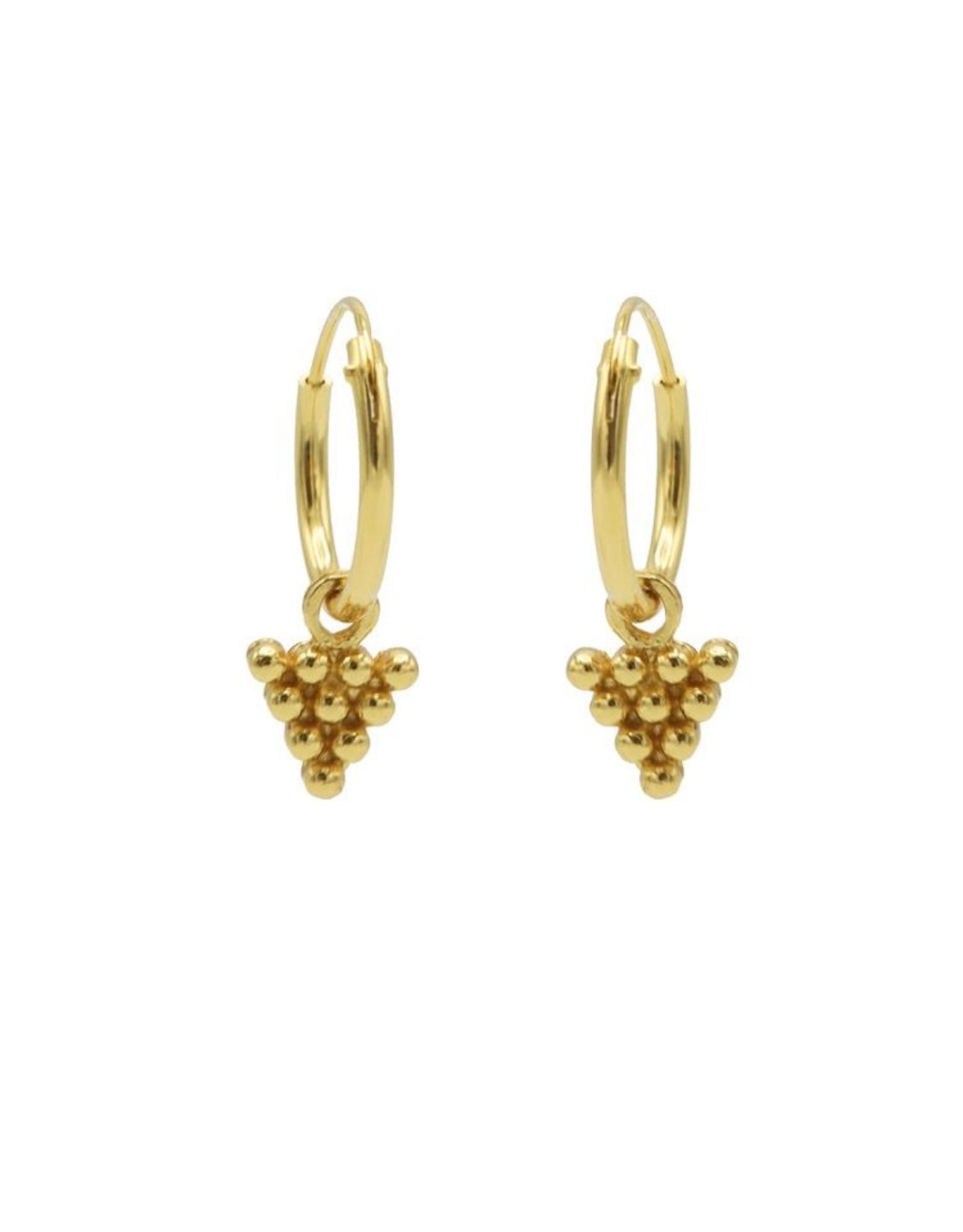 Karma Hoops Symbols 10 Dots Triangle Goldplated  Set