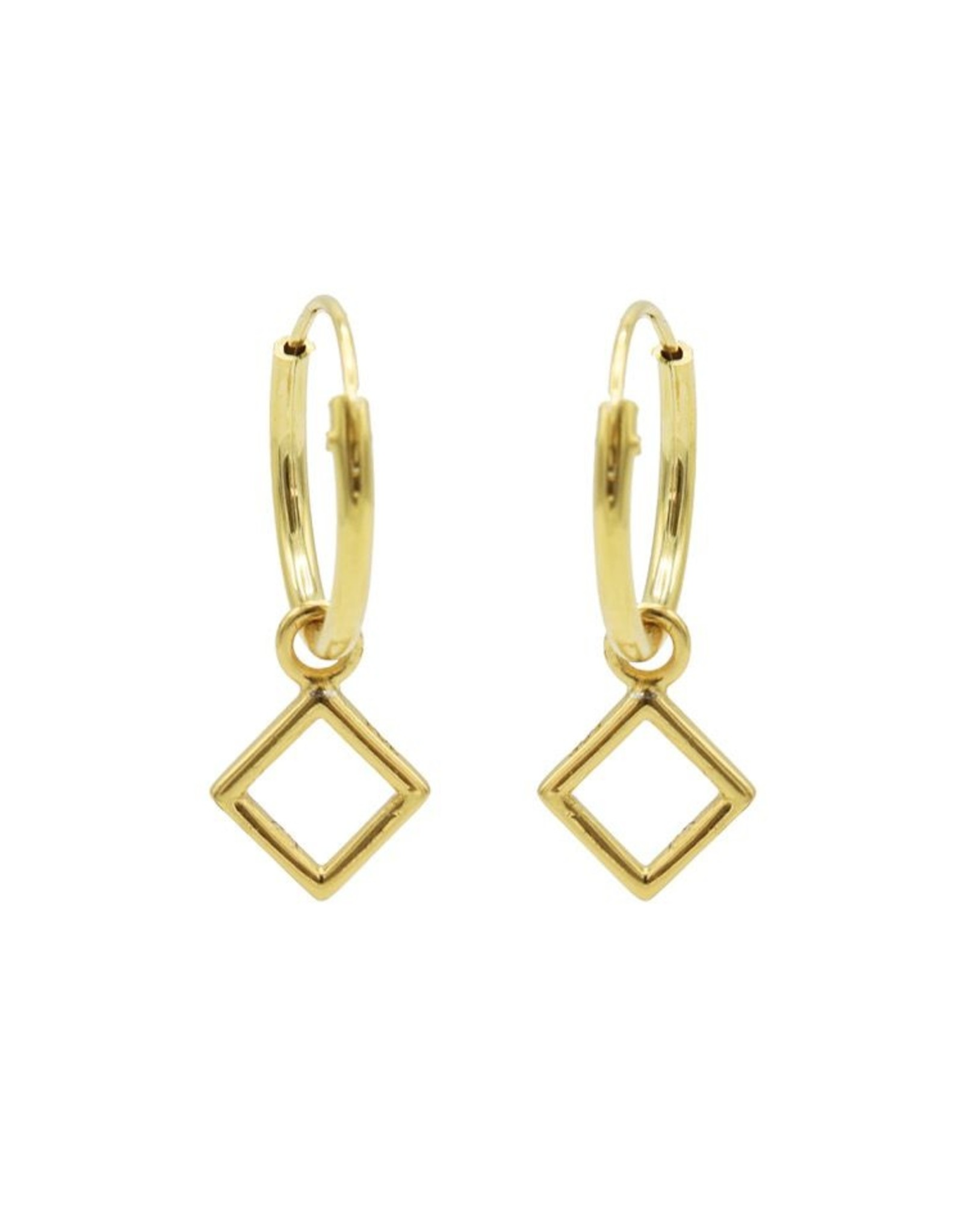 Karma Hoops Symbols Open Square Goldplated Set