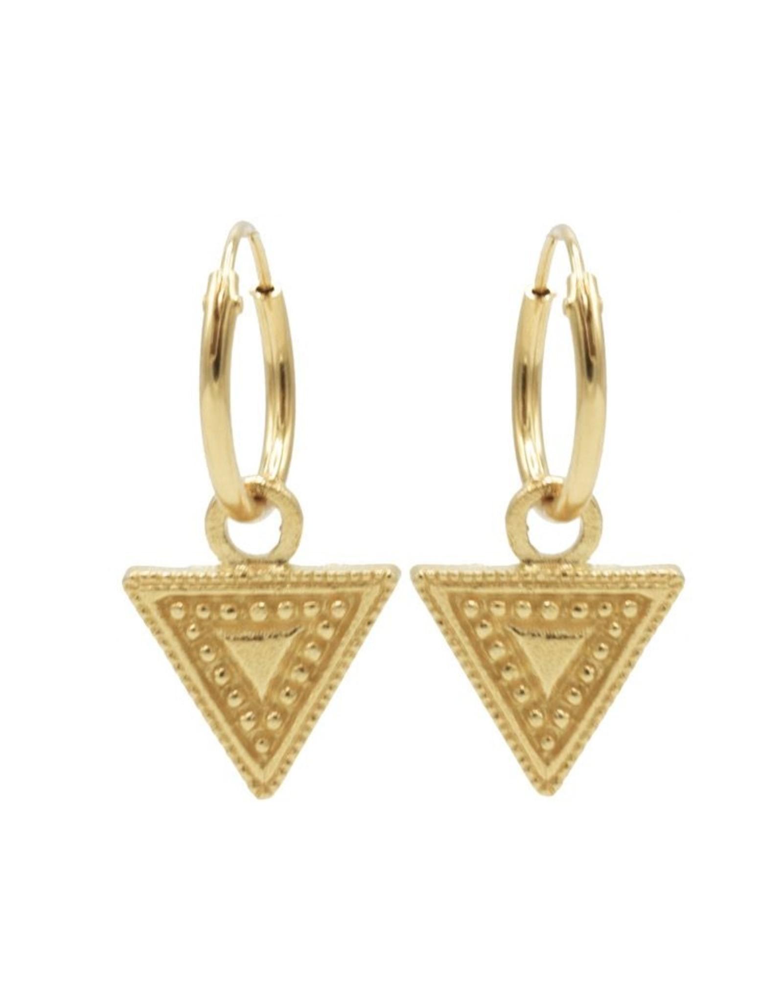 Karma Hoops Symbols Dots Line Triangle Goldplated Set