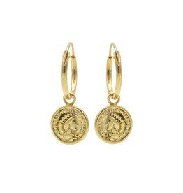 Karma Hoops Symbols Coin 2 Goldplated Set