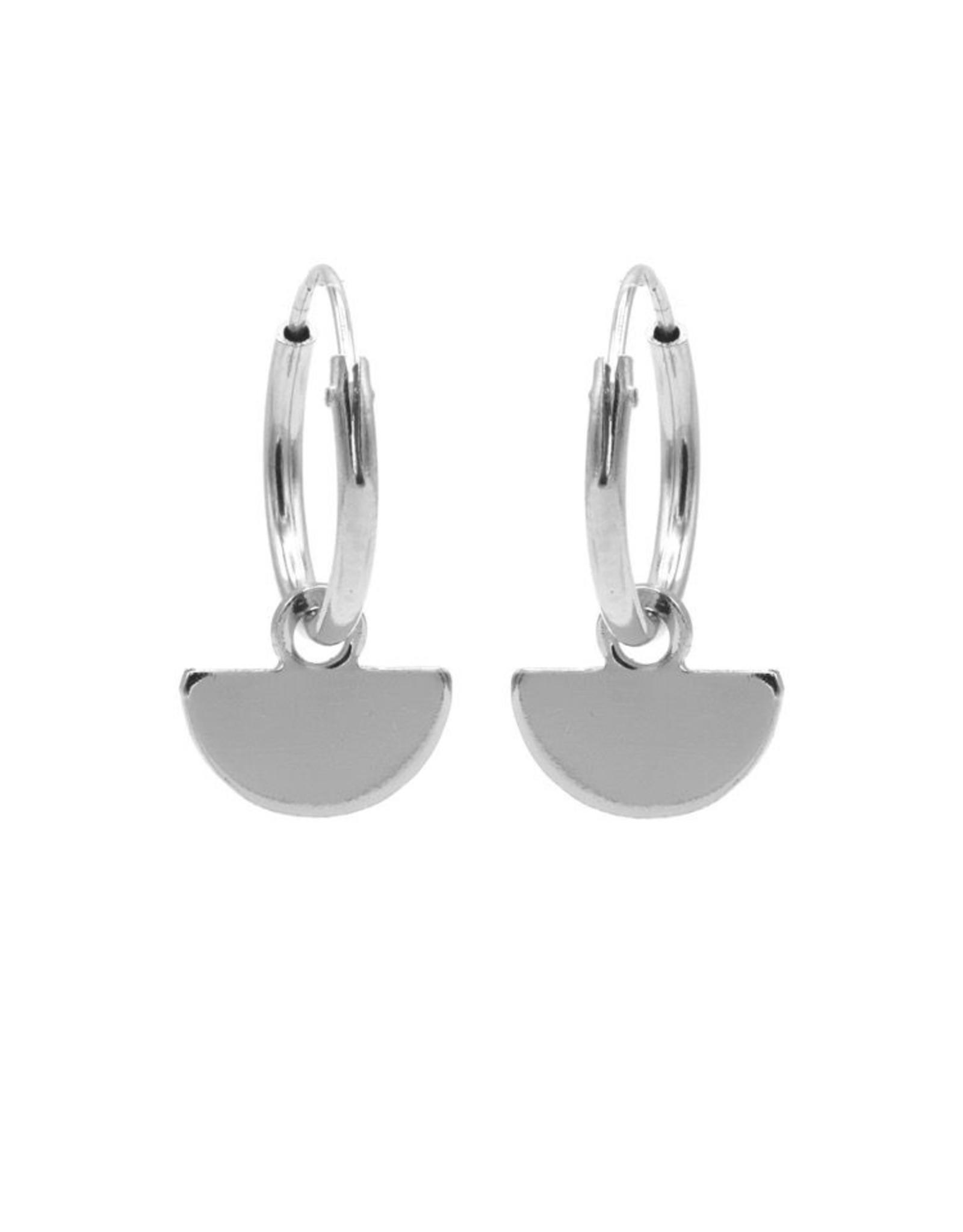 Karma Hoops Symbols Half Disc Silver Set