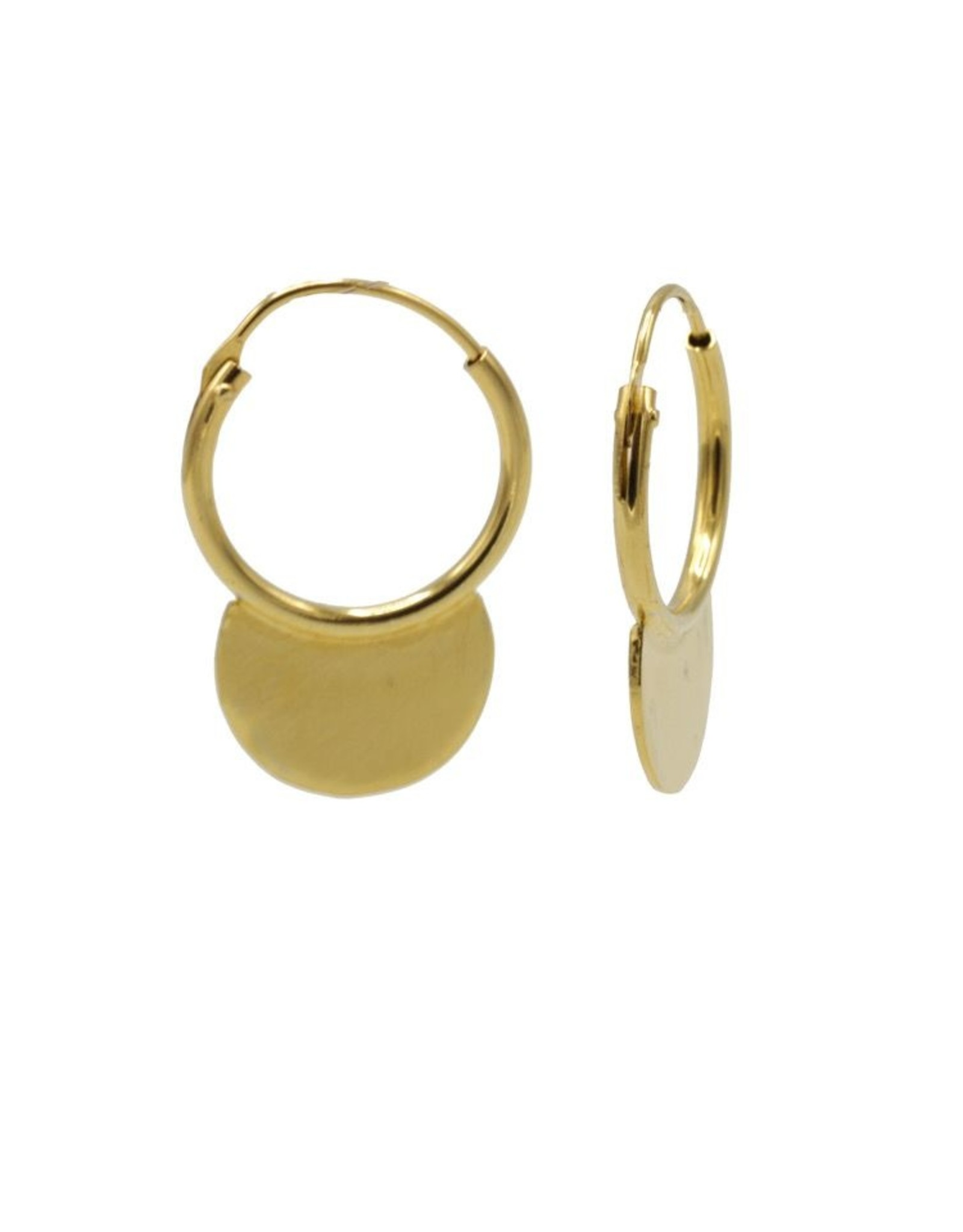 Karma Hoops Symbols Solid Half Circle Goldplated  Set