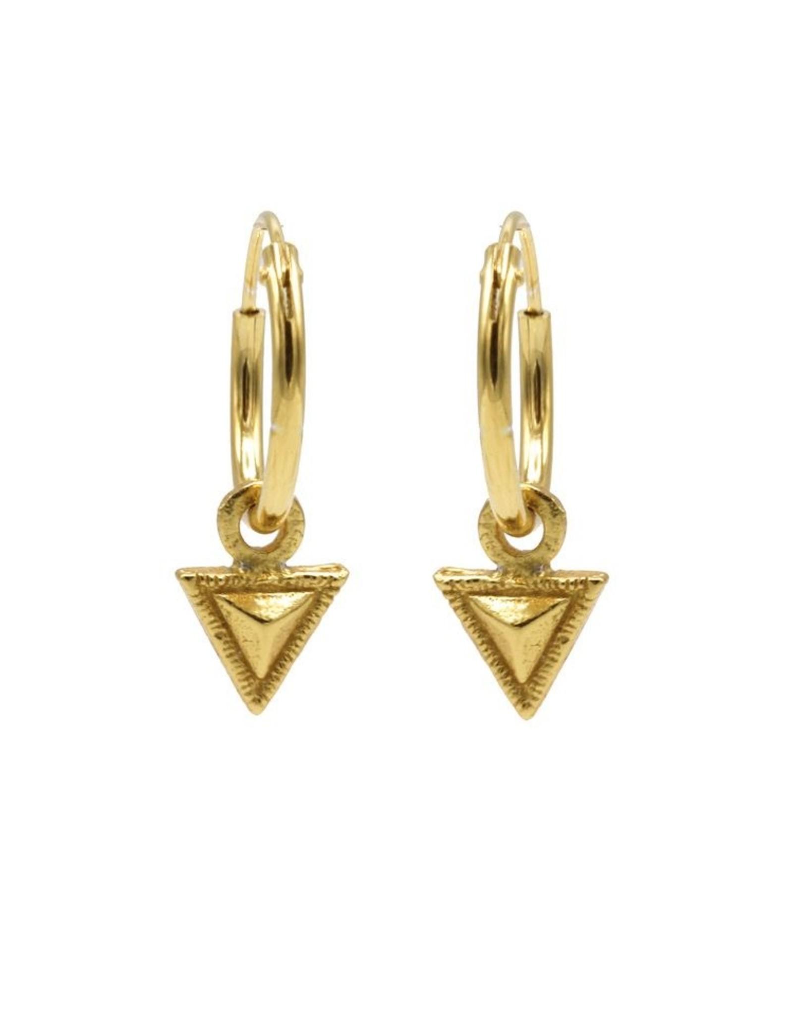 Karma Hoops Symbols Tiny Triangle Goldplated Set