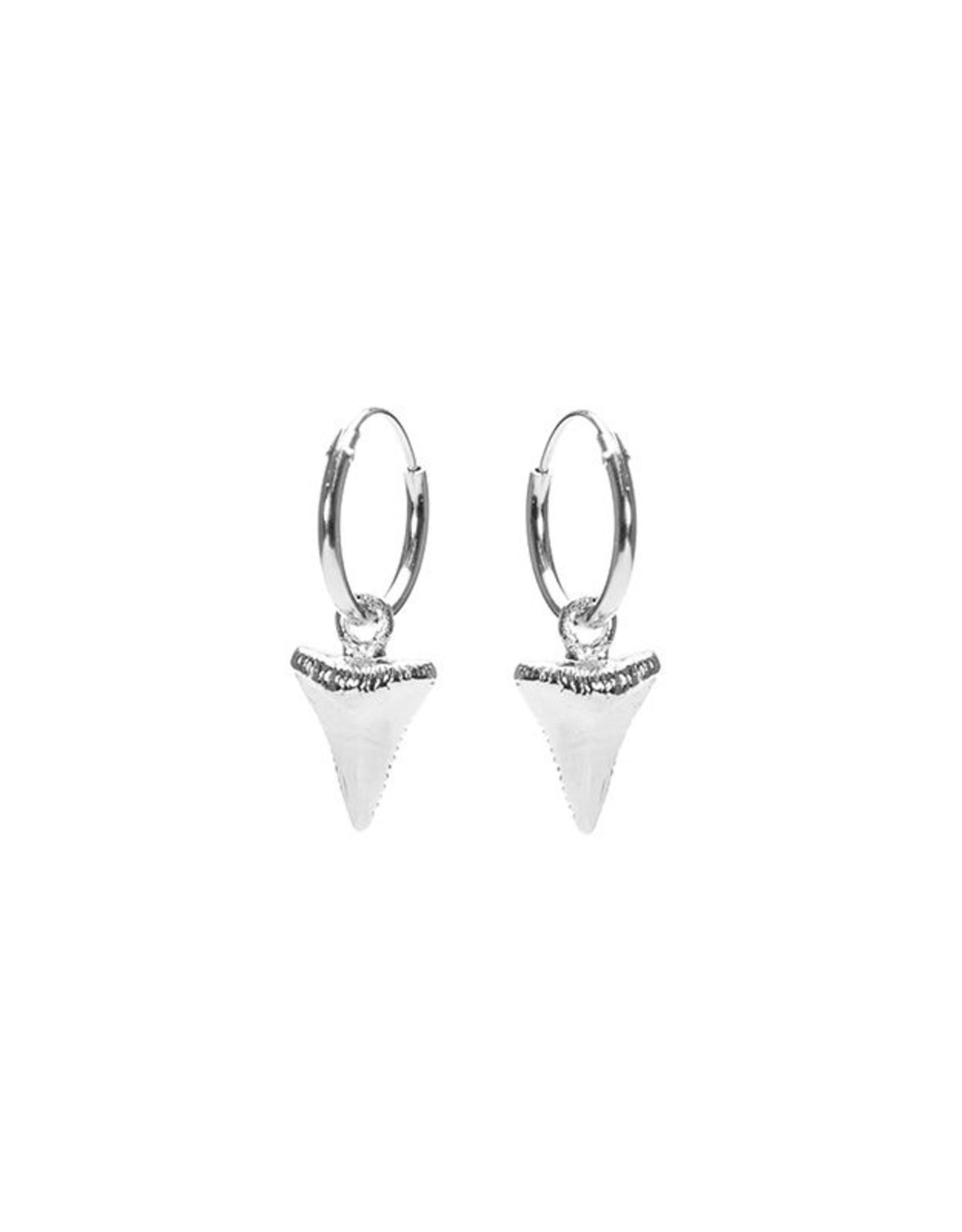 Karma Hoops Symbols Shark Tooth Silver Set