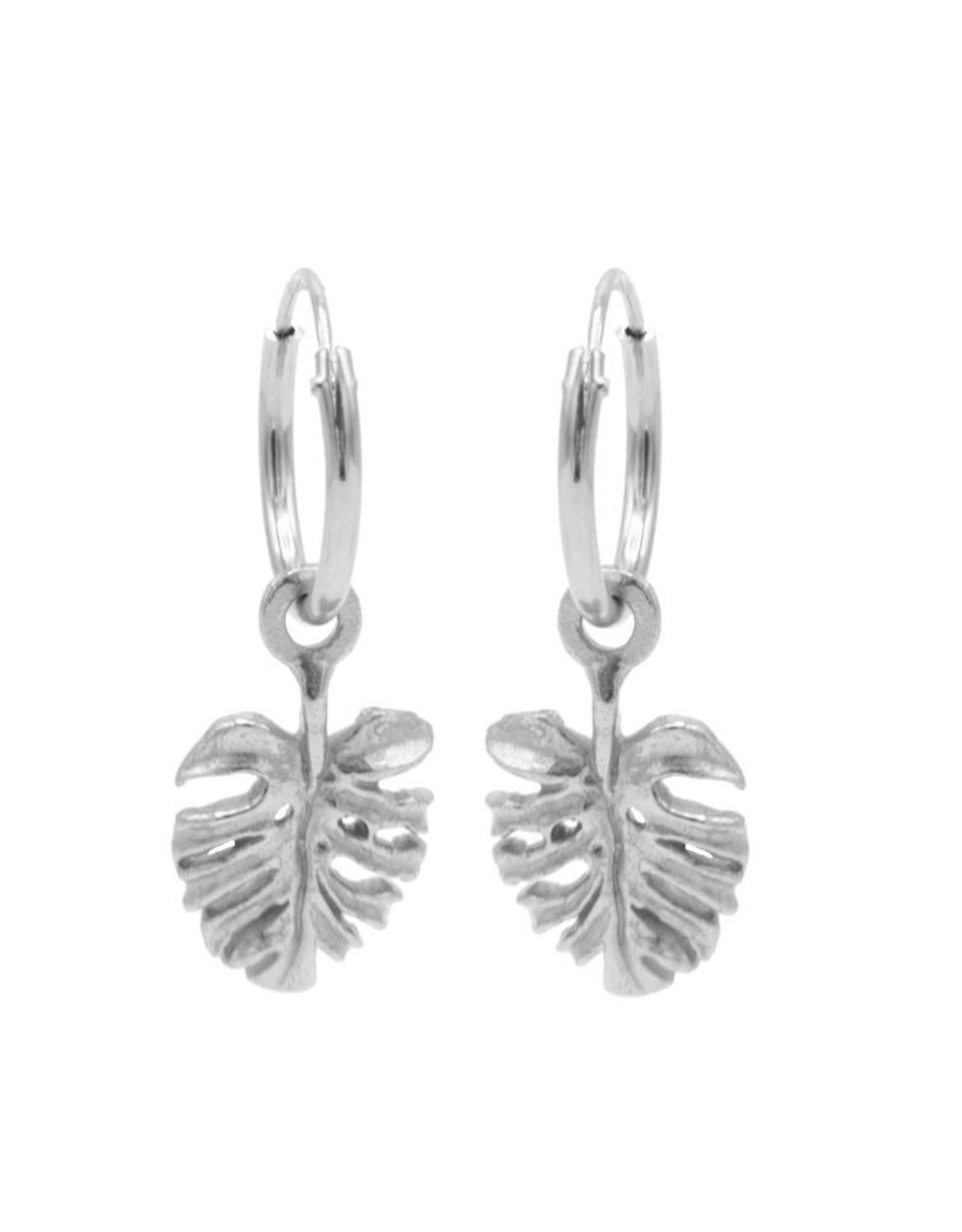 Karma Hoops Symbols Leaf 2 Silver Set