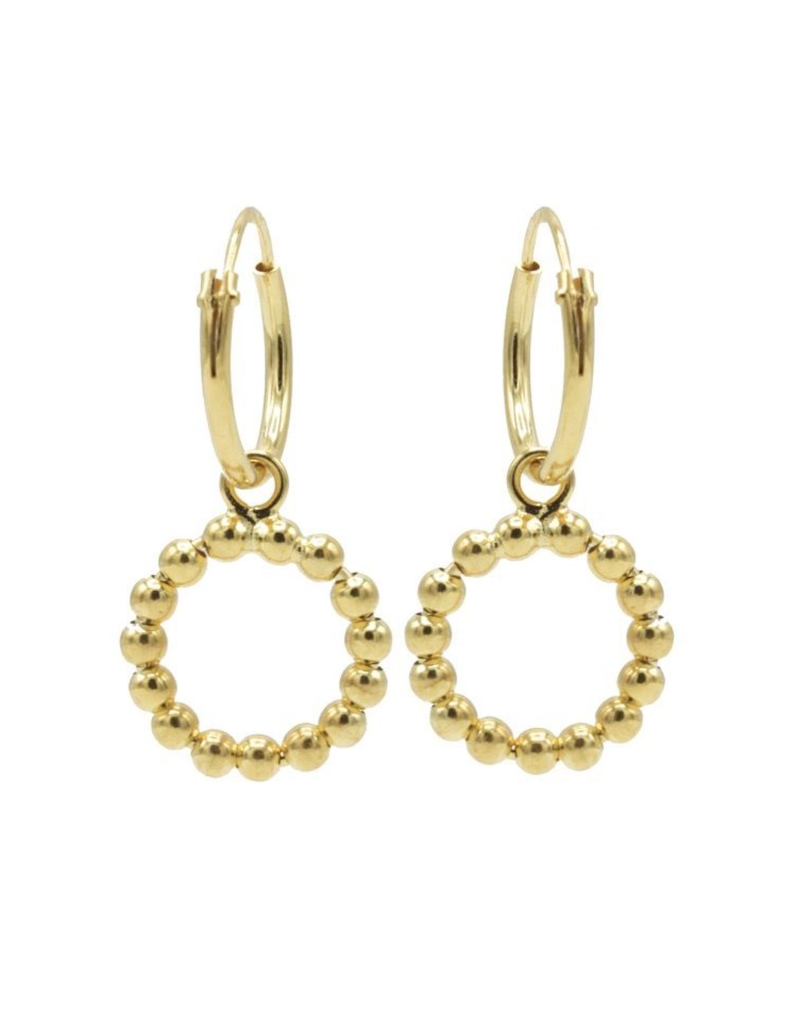 Karma Hoops Symbols Open Circle DOTS Goldplated Set