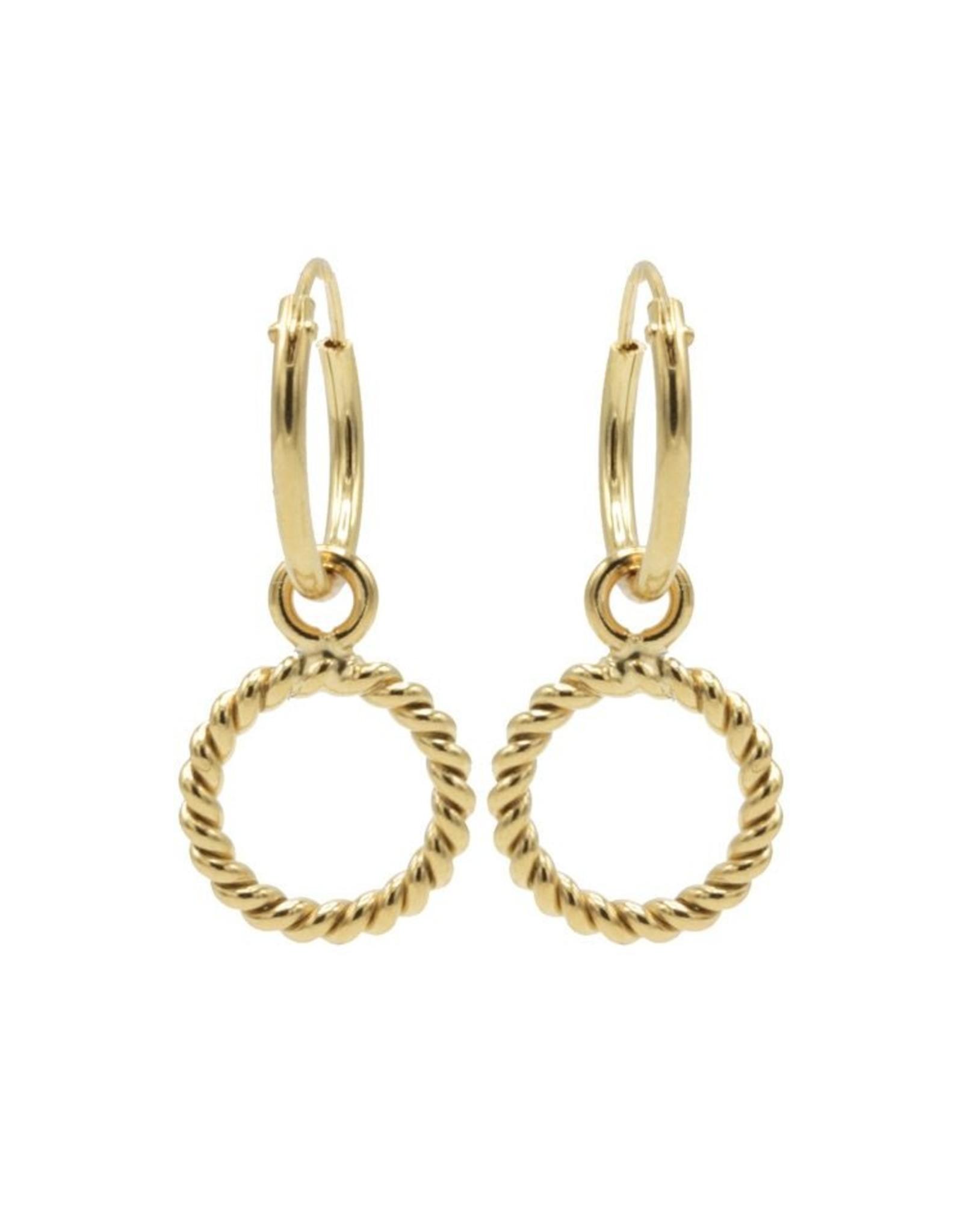 Karma Hoops Symbols Open Circle TWISTED Goldplated Set
