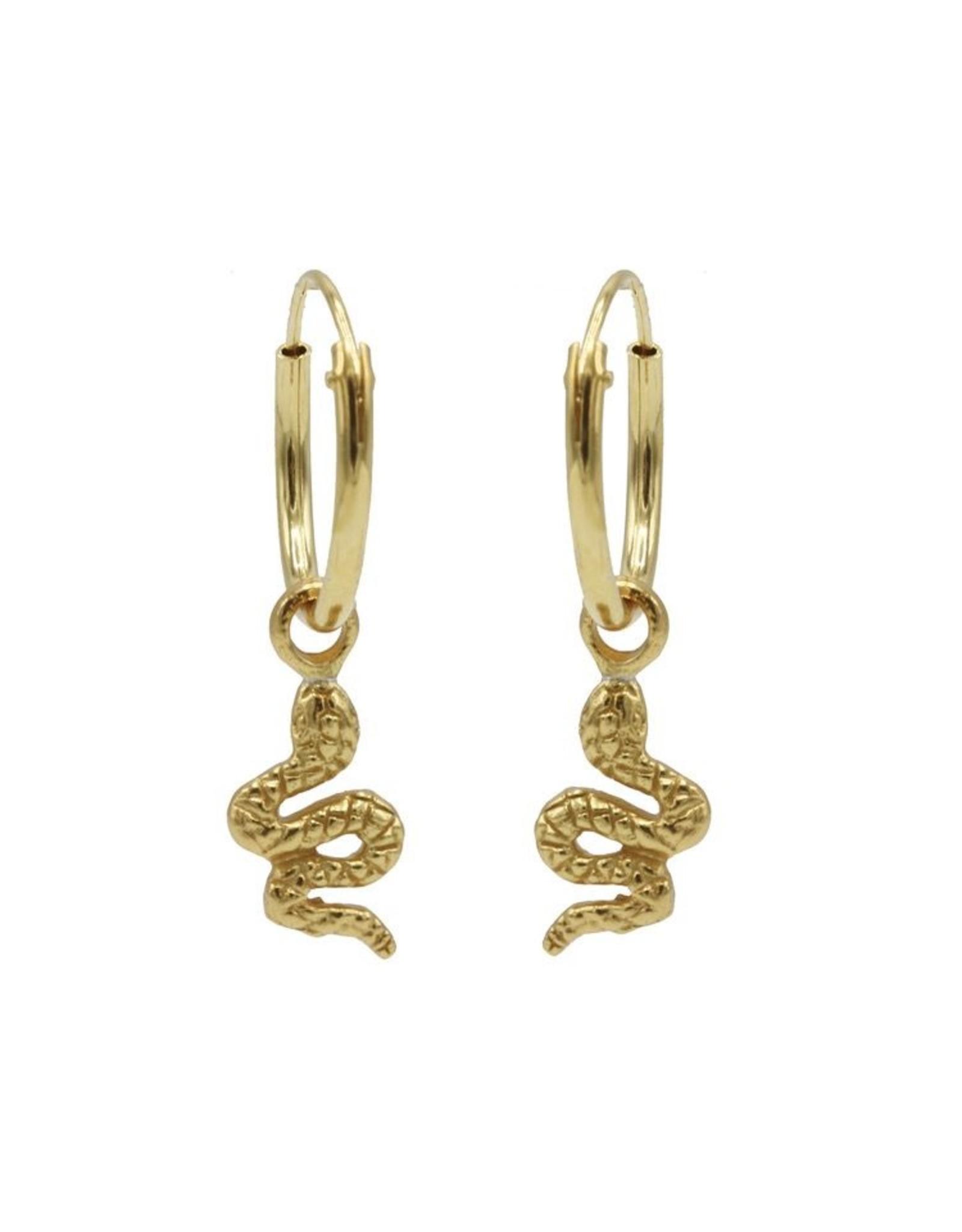 Karma Hoops Symbols Snake Goldplated  Set