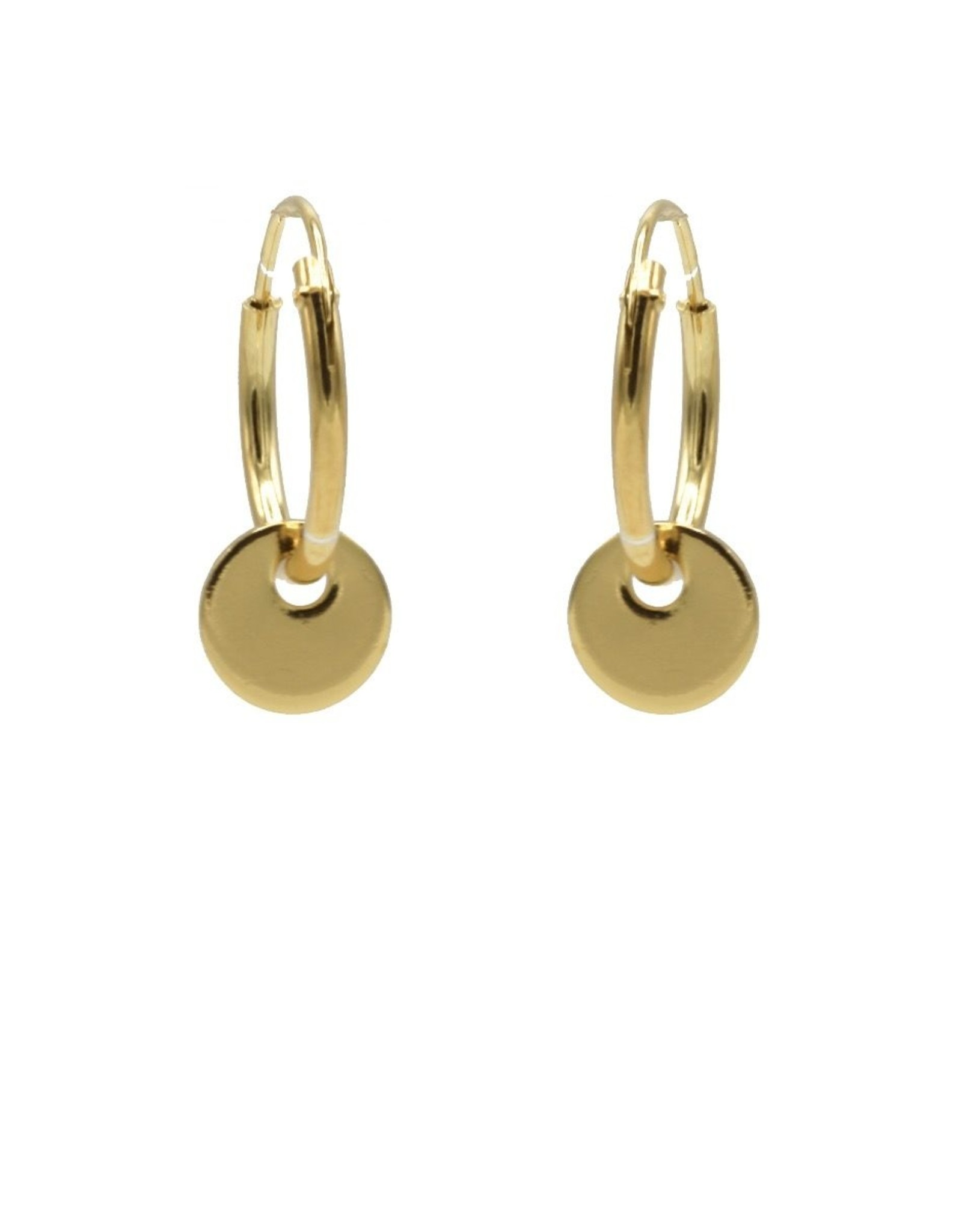 Hoops Symbols Discus Small Goldplated Set