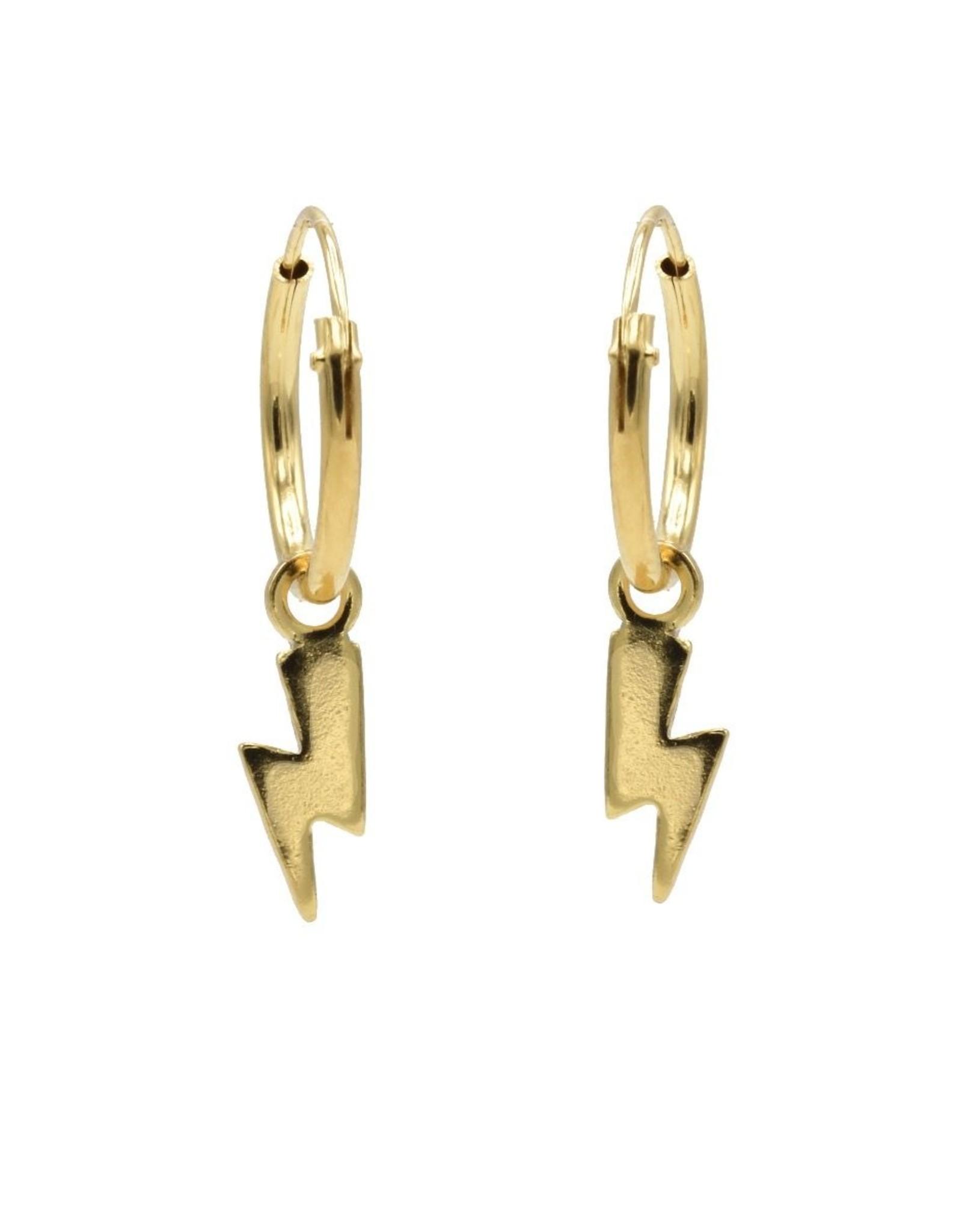 Karma Hoops Symbols Lightning Goldplated Set