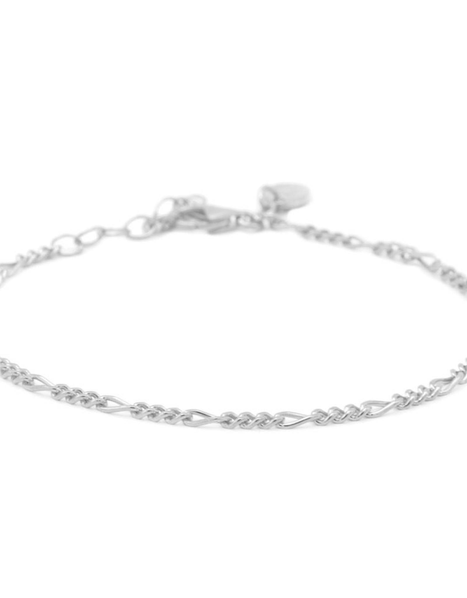 Karma Bracelet Figaro Silver