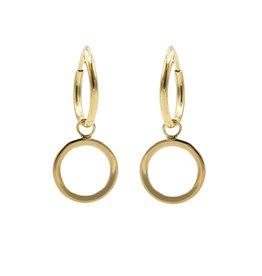 Karma Hoops Symbols Open Circle Goldplated Set